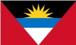 Antigua & Barbuda Large Country Flag - 3' x 2'.